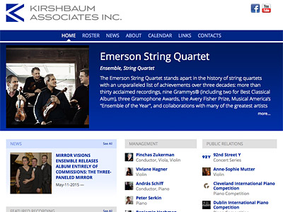 Custom website design for Kirshbaum Associates Inc.