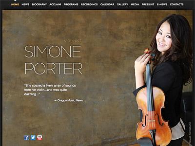 Custom website design for simoneporterviolin.com