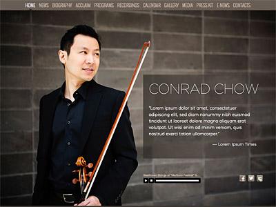 Custom website design for Conrad Chow