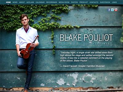 Custom website design for Blake Pouliot
