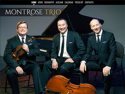 Custom website design for Montrose Trio