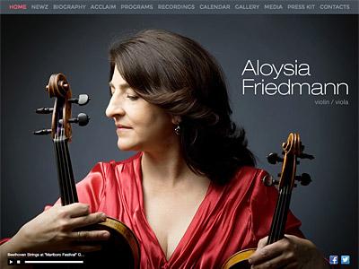 Custom website design for Aloysia Friedmann