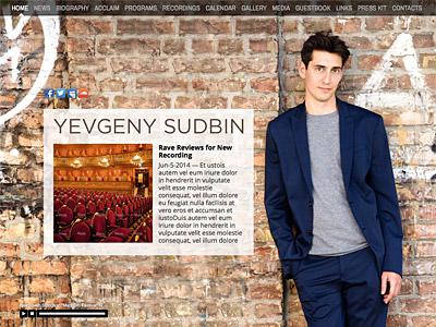 Custom website design for Yevgeny Sudbin