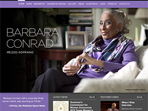 Custom website design for Barbara Conrad