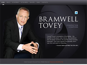 Custom website design for Bramwell Tovey
