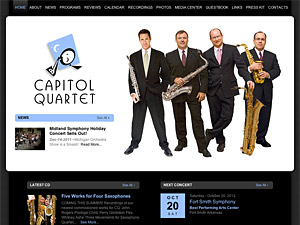 Custom website design for Capitol Quartet