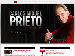 Custom website design for Carlos Miguel Prieto