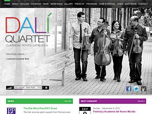 Custom website design for Dali Quartet