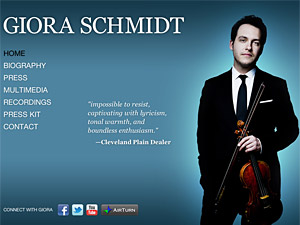 Custom website design for Giora Schmidt