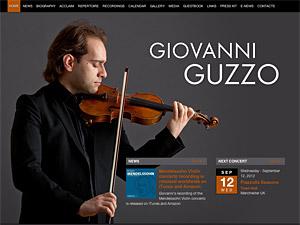 Custom website design for Giovanni Guzzo