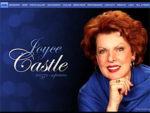Custom website design for Joyce Castle
