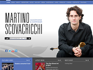 Custom website design for Martino Scovacricchi