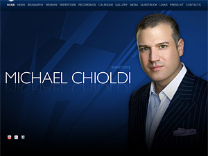 Custom website design for michaelchioldi.com