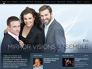Custom website design for Mirror Visions