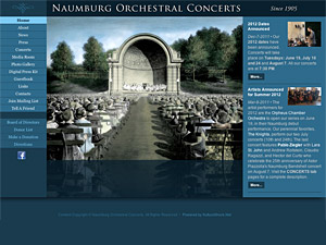 Custom website design for Naumburg Orchestral Concerts