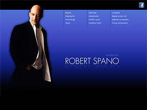 Custom website design for Robert Spano