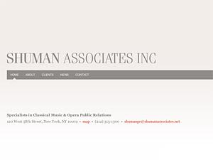 Custom website design for Shuman Associates