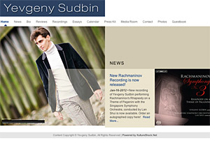 Custom website design for Yevgeny Sudbin
