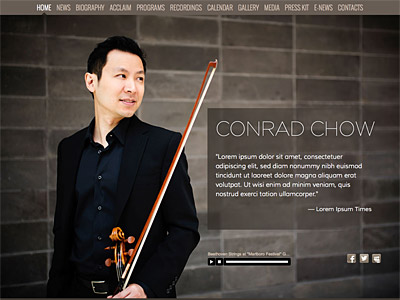 Custom website design for Conrad Chow