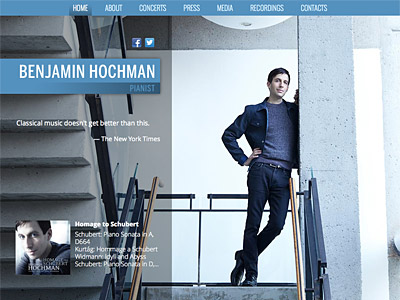 Custom website design for Benjamin Hochman