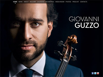 Custom website design for Giovanni Guzzo