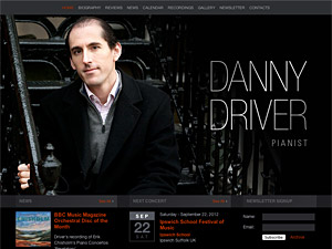 Custom website design for Danny Driver