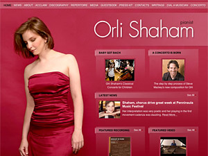 Custom website design for Orli Shaham